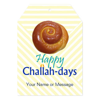 Happy Challah-days Humorous Tag Card