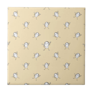 Happy Character Kids Motif Pattern Tile