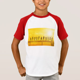 Happy Children and Friendship in School Concept T-Shirt