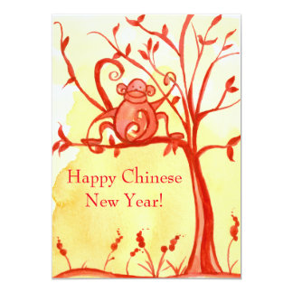 Happy Chinese New Year Of The Monkey Party Card