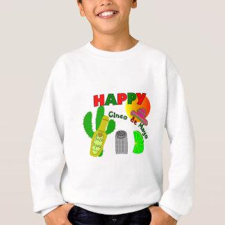 """""""Happy Cinco de Mayo"""" Lime, Tequila & Salt Design Sweatshirt"""