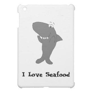 Happy Clapping Cartoon Shark iPad Mini Cover