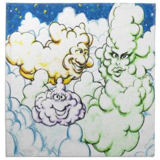 Happy Clouds Cloth Napkins