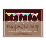 Happy Cocktails New Years Eve Party Invitation 13 Cm X 18 Cm Invitation Card