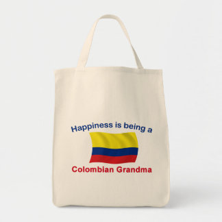 Happy Colombian Grandma Tote Bag