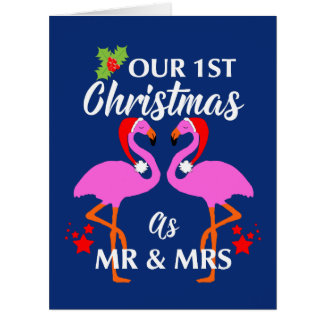 Happy Couples First Christmas As Mr & Mrs Card