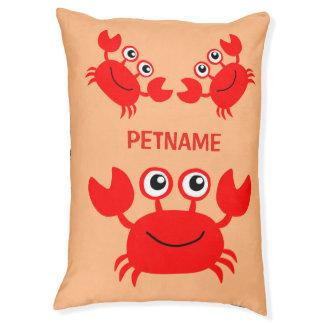 Happy Crab custom dog beds