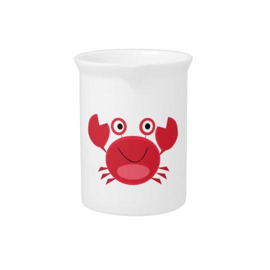 Happy Crab Pitcher