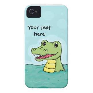 Happy Crocodile customisable Blackberry Bold Covers