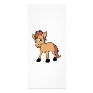 Happy Cute Brown Foal Little Horse Pony Colt 10 Cm X 23 Cm Rack Card
