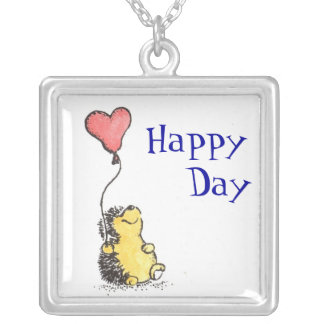 Happy Day! Silver Plated Necklace
