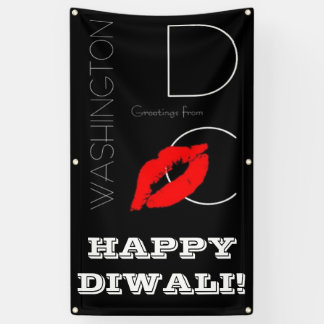 Happy Diwali Washington DC Red Lipstick Kiss