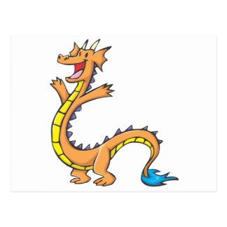 Happy Dragon Cartoon Postcard