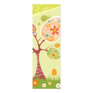 Happy Easter Abstract Bookmark Pack Of Skinny Business Cards