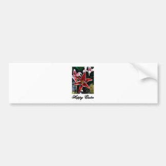 Happy Easter b Black Tiger Lily The MUSEUM Zazzle Bumper Sticker