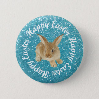 HAPPY EASTER BABY BUNNY BUTTON