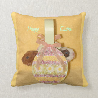Happy Easter baby guinea pigs Pillow