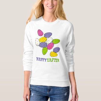 Happy Easter Basket Candy Egg Eggs Sweatshirt