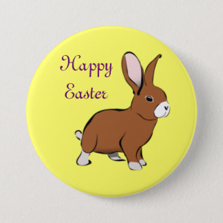 Happy Easter Bunny Button Pin
