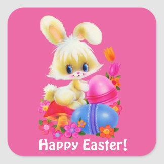 Happy Easter Bunny Holiday sticker
