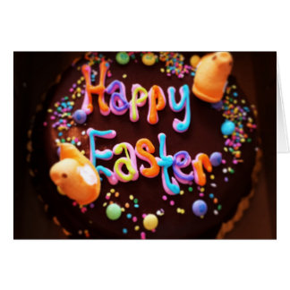 Happy Easter cake Card