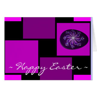 Happy Easter Card ~ Purple Painted Russian Egg