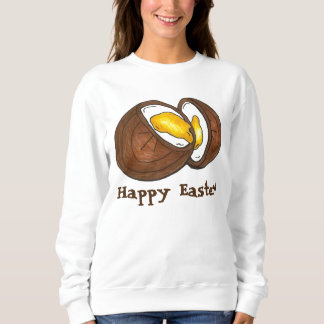 Happy Easter Chocolate Creme Cream Egg Sweatshirt