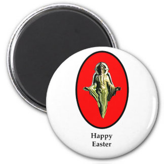 Happy Easter Christ Image Canterbury Red The MUSE 6 Cm Round Magnet