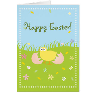 Happy Easter Cute Baby Chick Card