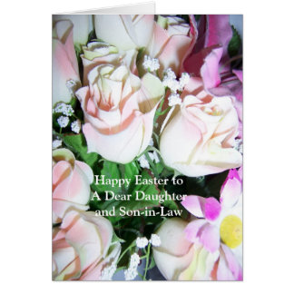 Son and daughter in law easter gifts t shirts art posters happy easter daughter and son in law card roses negle Image collections