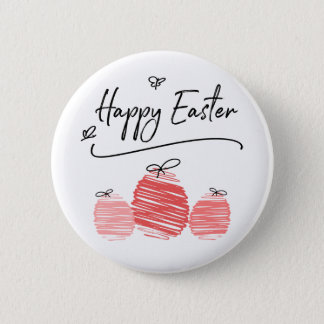 Happy Easter Egg Doodle Button