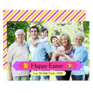 Happy Easter Family Photo - 3x5 Easter Card