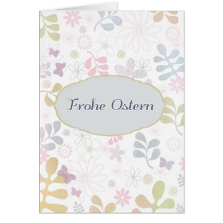 Happy Easter in German, frohe Ostern Greeting Card