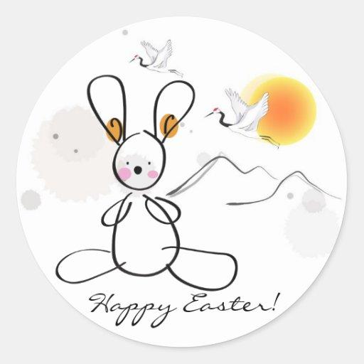 Happy Easter kids Wrist Round Sticker