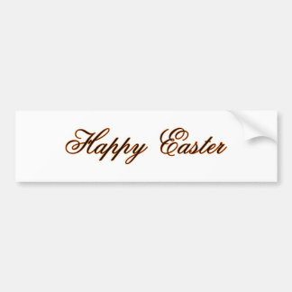 Happy Easter l Orange The MUSEUM Zazzle Gifts Bumper Stickers