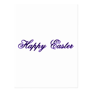 Happy Easter l Purple The MUSEUM Zazzle Gifts Post Cards