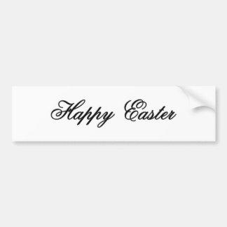 Happy Easter l Silver The MUSEUM Zazzle Gifts Bumper Sticker
