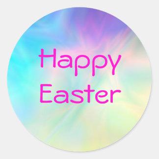 Happy Easter Line Round Sticker