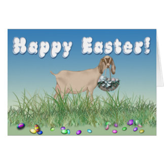 Happy Easter Nubian Goat Greeting Card
