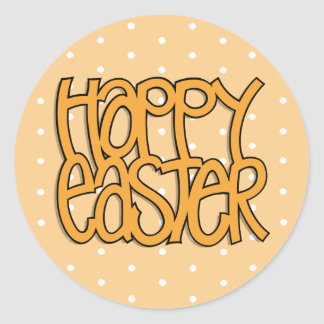 Happy Easter orange dot Sticker