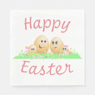 Happy Easter. Paper Napkin
