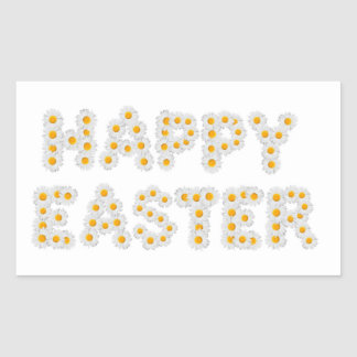 Happy Easter sign Rectangular Stickers