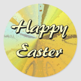 Happy Easter Round Stickers