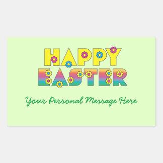 Happy Easter Rectangular Sticker