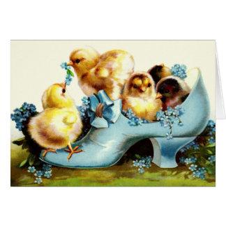 Happy Easter. Vintage Design Easter Greeting Card