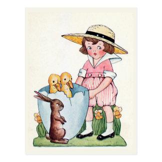 """Happy Easter"" Vintage Postcard"