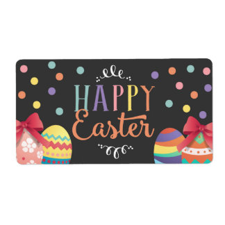 Happy Easter Water Bottle Labels, Easter Sticker Shipping Label