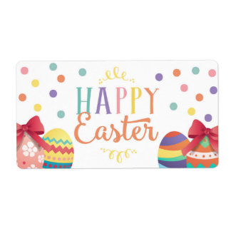 Happy Easter Water Bottle Wraps, Easter Sticker Shipping Label
