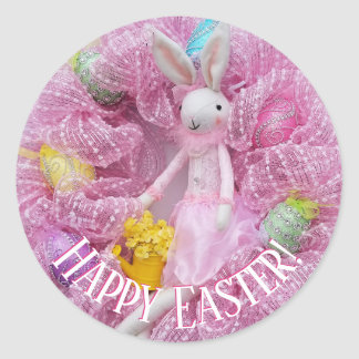 Happy Easter Wreath Stickers
