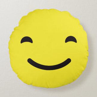 Happy Emoji / Smiley Round Cushion